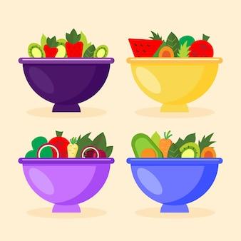 Kolekcja mis owocowych i sałatkowych