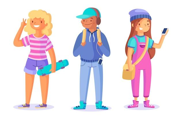 Kolekcja młodych ludzi
