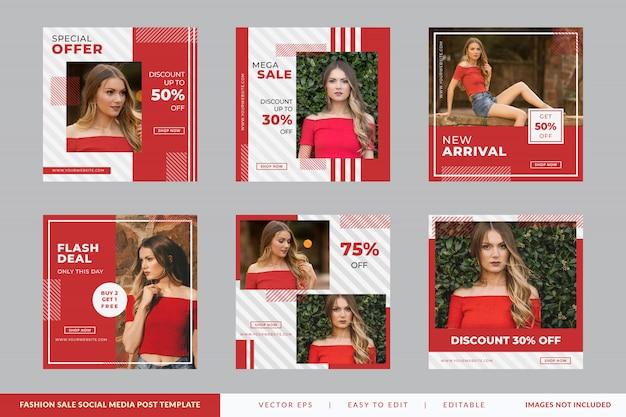 Kolekcja moda kwadratowy baner