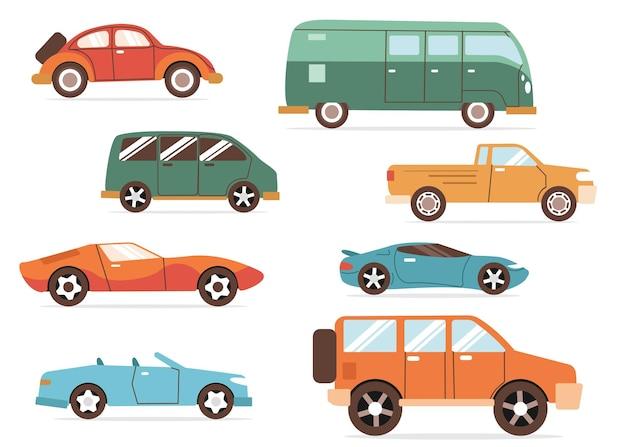 Kolekcja modeli samochodów wektorowych
