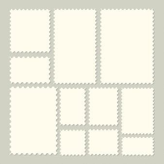 Kolekcja modnych znaczków pocztowych na etykiety, naklejki, aplikacje, makiety znaczków pocztowych i tapety.