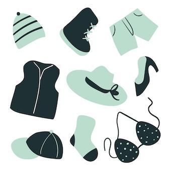 Kolekcja mody wektorowej