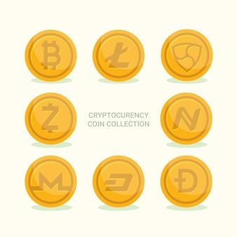 Kolekcja monet kryptowalutowych