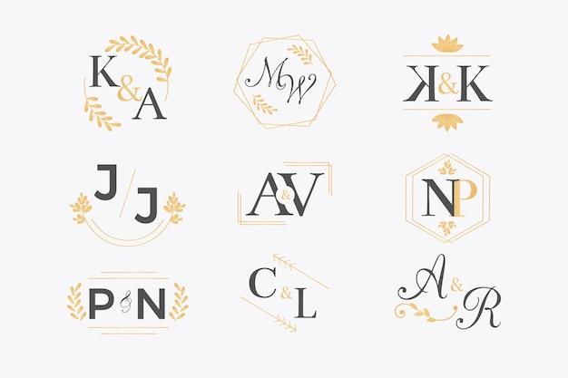 Kolekcja monogram ślubny