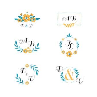 Kolekcja monogramy weselne