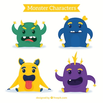 Kolekcja monster czterech