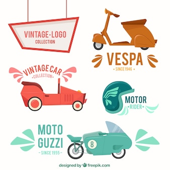 Kolekcja motocykli styl vintage
