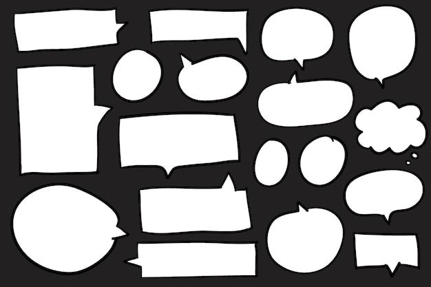 Kolekcja mowy pęcherzyki wektor
