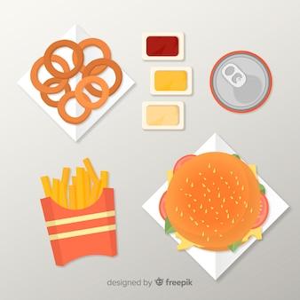 Kolekcja naczyń 2d żywności