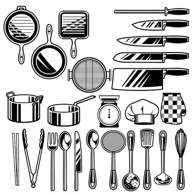 Kolekcja naczyń kuchennych