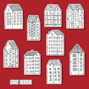 Kolekcja naklejek city house