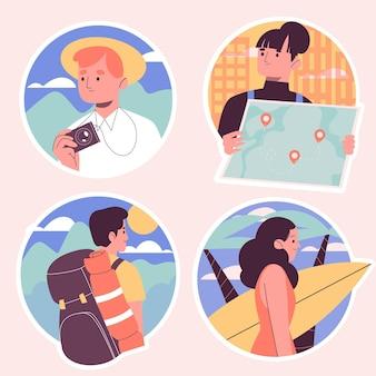 Kolekcja naklejek naiwne wakacje