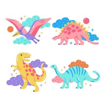 Kolekcja naklejek z błyszczącymi dinozaurami