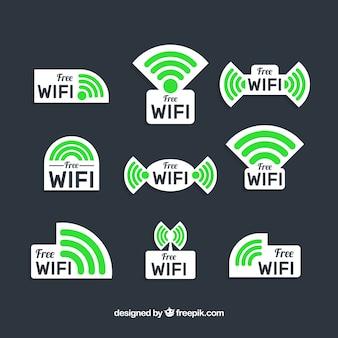 Kolekcja naklejek z wifi
