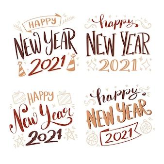 Kolekcja napisów na nowy rok 2021