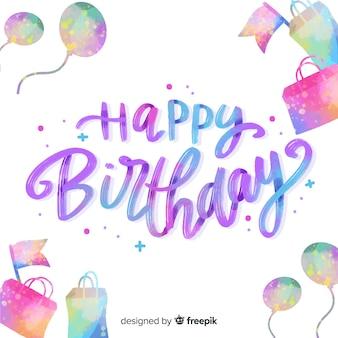 Kolekcja napisów z okazji urodzin