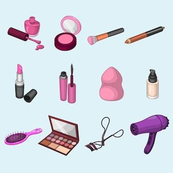 Kolekcja narzędzi kosmetycznych