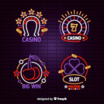Kolekcja neonowych kasyn