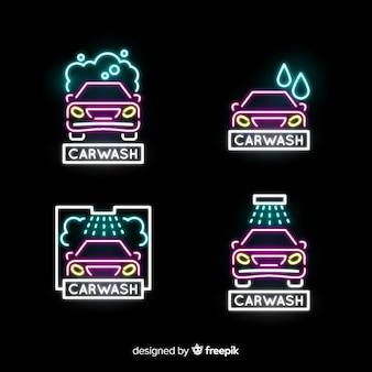 Kolekcja neonowych znaków samochodowych