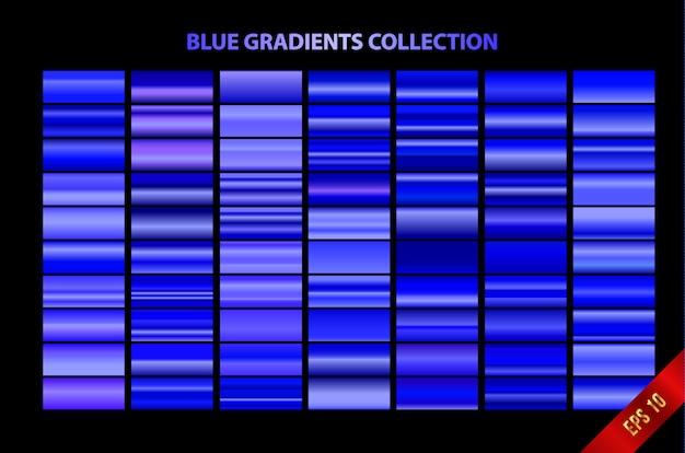 Kolekcja niebieskich gradientów