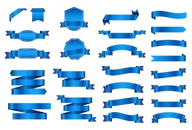 Kolekcja niebieskich wstążek