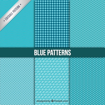 Kolekcja niebieskie wzory