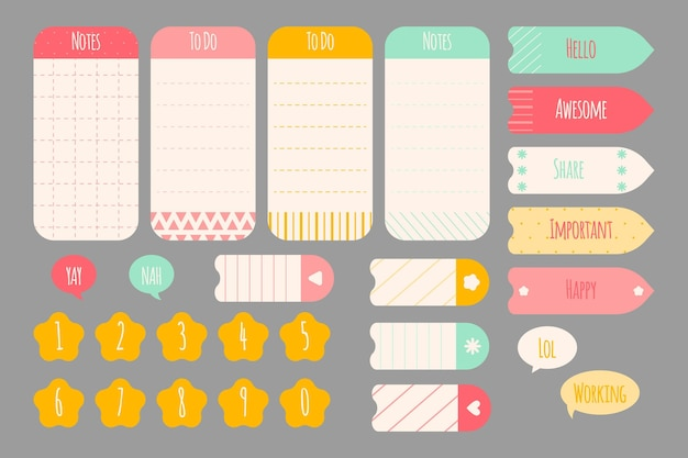 Kolekcja notatnika planner