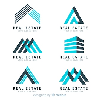 Kolekcja nowoczesnego logo nieruchomości