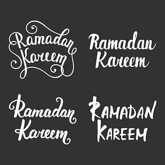 Kolekcja nowoczesnej kaligrafii ramadan kareem