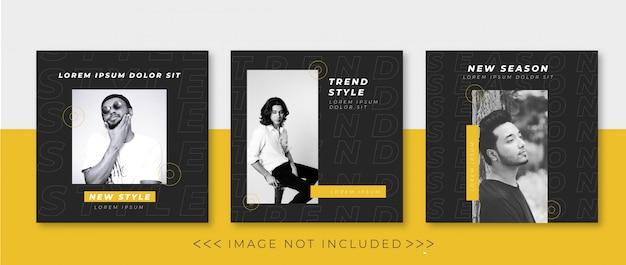 Kolekcja nowoczesnych banerów społecznościowych szablon
