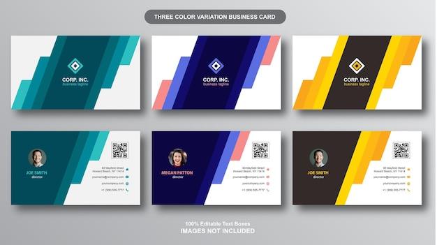 Kolekcja nowoczesnych kolorowych wizytówek