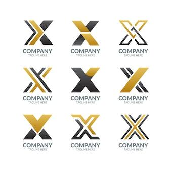 Kolekcja nowoczesnych list logo design