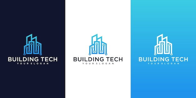 Kolekcja nowoczesnych logo budynków