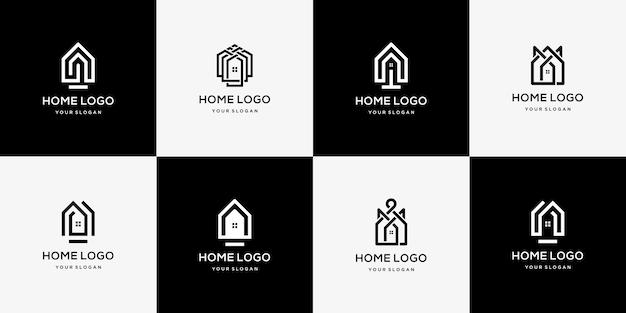 Kolekcja nowoczesnych logo nieruchomości