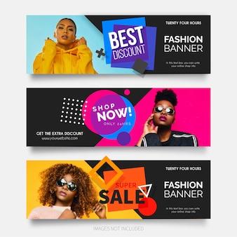 Kolekcja nowoczesnych moda sprzedaży transparent