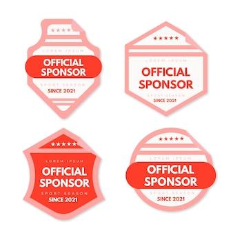 Kolekcja nowoczesnych naklejek sponsorów