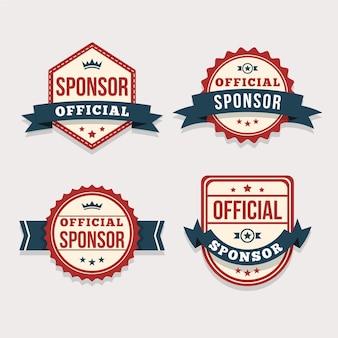Kolekcja nowoczesnych odznak sponsorów