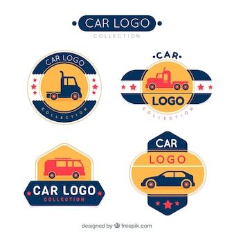 Kolekcja nowoczesnych samochodów logo