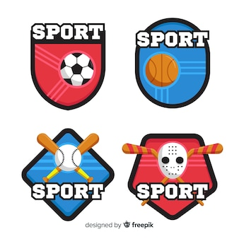 Kolekcja nowoczesnych sportowych logo