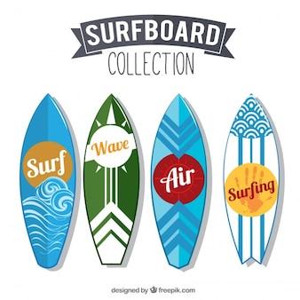 Kolekcja nowoczesnych surboard