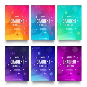 Kolekcja nowoczesnych szablonów gradientu