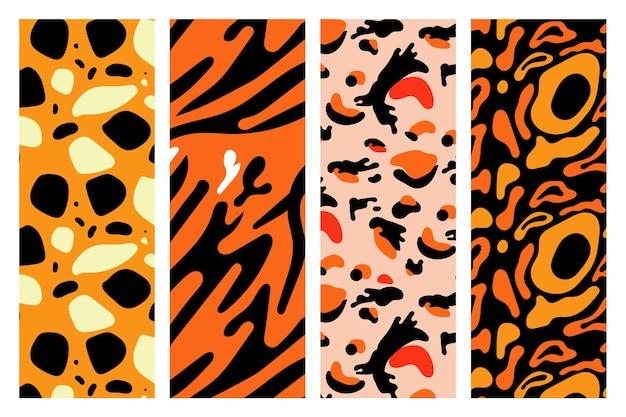 Kolekcja nowoczesnych wzorów zwierzęcych