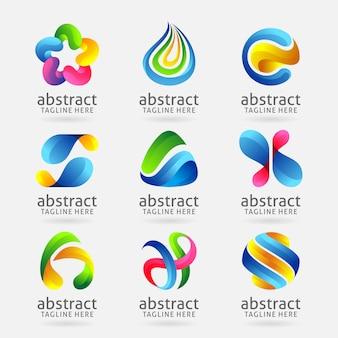 Kolekcja nowożytny abstrakcjonistyczny loga projekt
