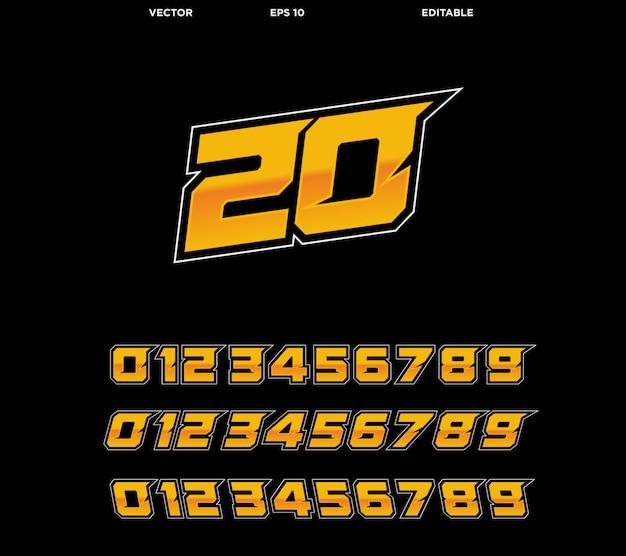 Kolekcja numerów wyścigowych