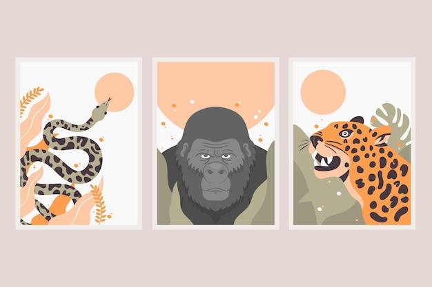 Kolekcja obejmuje płaskie dzikie zwierzęta