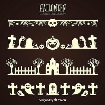 Kolekcja obramowania halloween