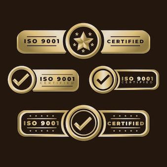 Kolekcja odznak certyfikacyjnych iso