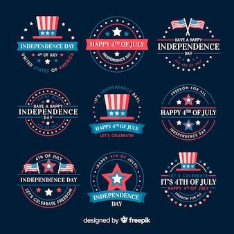 Kolekcja odznak czwartego lipca