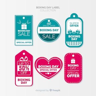 Kolekcja odznak dzień boxing