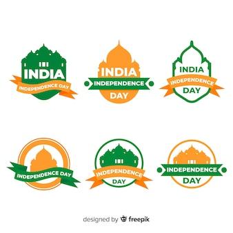 Kolekcja odznak dzień niepodległości indii